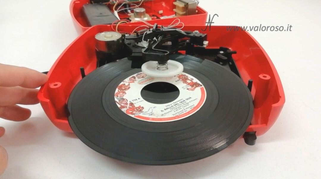 Mangiadischi Penny MusicalNastro MusicalSound espulsione disco 45 giri meccanismo molla
