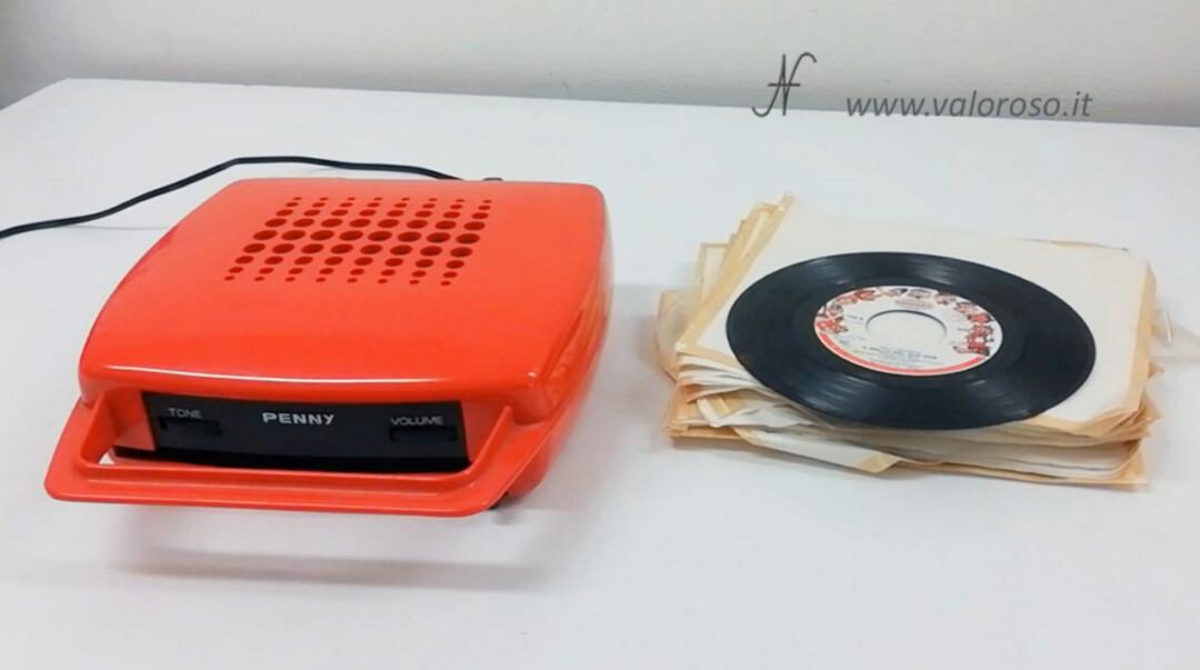 Mangiadischi Penny MusicalNastro MusicalSound rosso dischi 45 giri bambini fiabe sigle cartoni animati canzoni