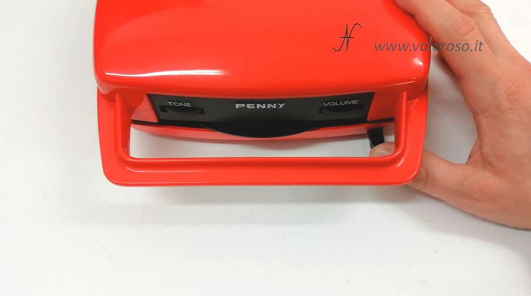 Mangiadischi Penny MusicalNastro MusicalSound rosso pulsante di espulsione eject disco 45 giri