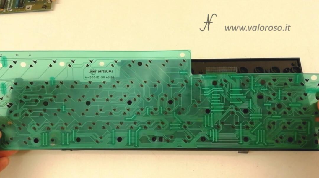 Inner membrane keyboard A500 Amiga 500 Mitsumi A-500(E)56 A619B, flexible molded, plastic