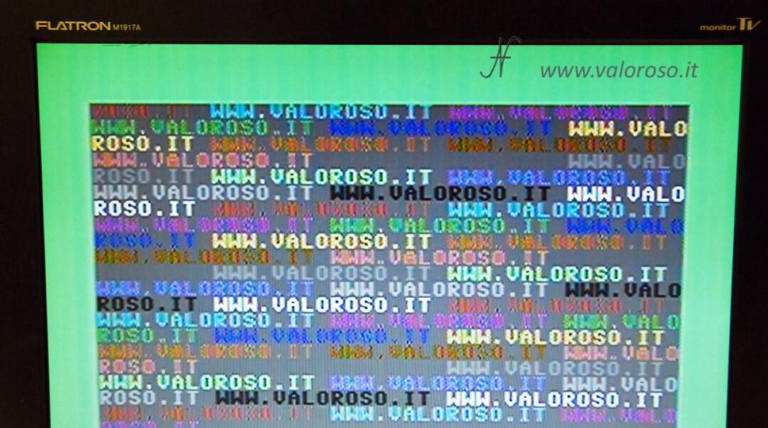 Migliorare la qualità immagine video del Commodore 128 sulle TV LCD, cavo video composito scarsa qualità CVBS