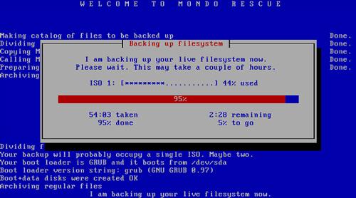 MondoArchive, Mondo Rescue, server backup, backing up filesystem