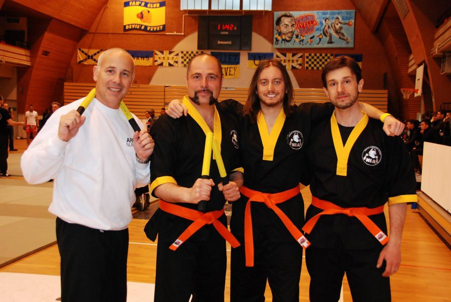 NIA Nunchaku International Academy, Marc Bremart, Amedeo, Jerry, Fabio, Vevey, Svizzera