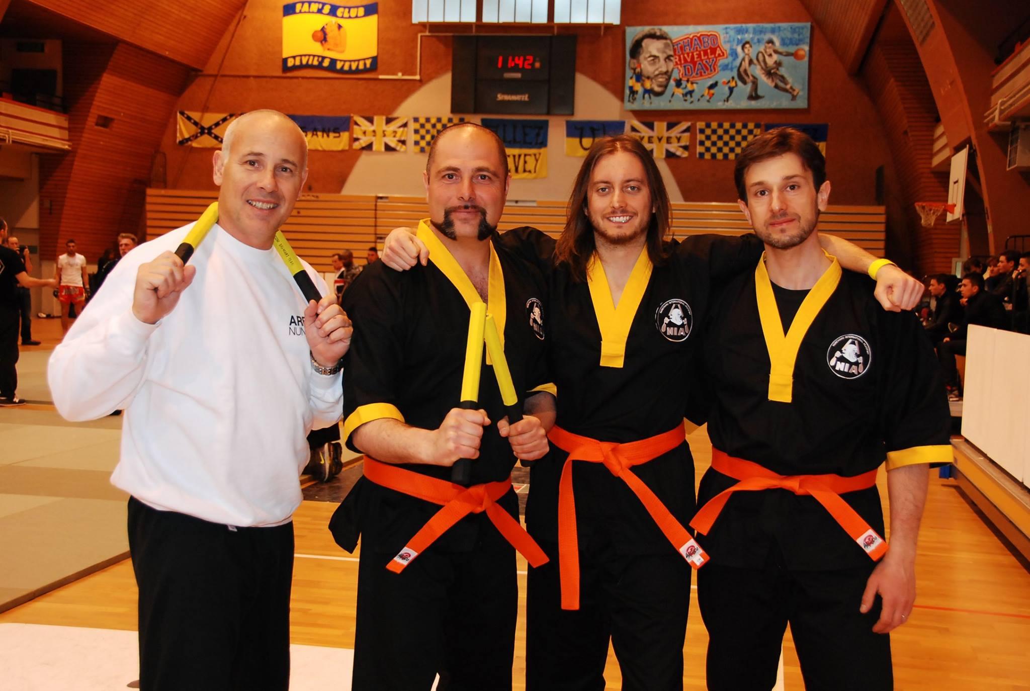 NIA Nunchaku International Academy, Marc Bremart, Amedeo, Jerry, Fabio, Vevey, Svizzera