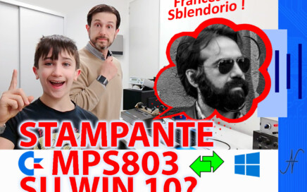 OpenCBM CBMage CBMtext Francesco Sblendorio usare la stampante Commodore MPS803 con un PC Windows 10, XUM1541