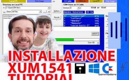 OpenCBM XUM1541 CBMXfer installazione Windows 10 driver, X-Cable