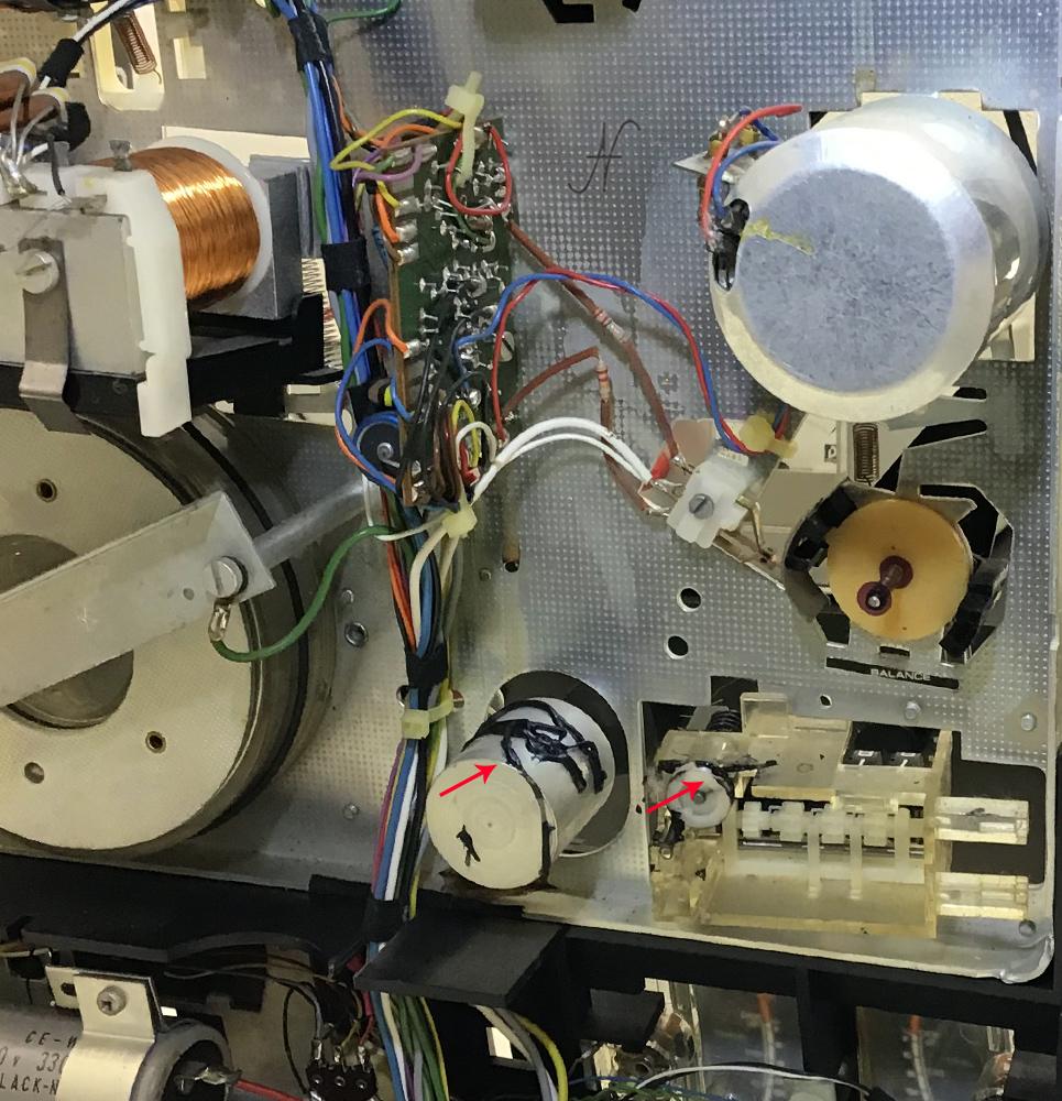 Philips N4504, Aristona EW5504, sostituzione cinghia contatore sciolta