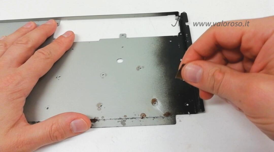 Metal plate keyboard Commodore Amiga 500, remove rust oxide