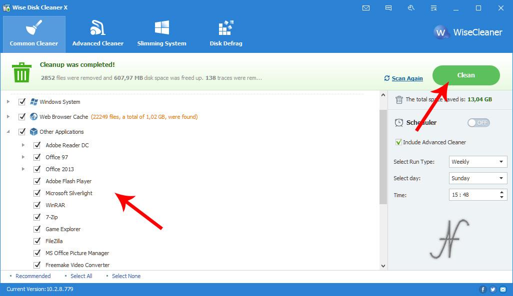 Privacy Windows 10, cancellare tracce uso PC con Wise Disk Cleaner, cronologia utilizzo PC, cronologia utilizzo file, Office, Word, Excel, cookies, dati navigazione, Firefox, Chrome, Edge, Explorer
