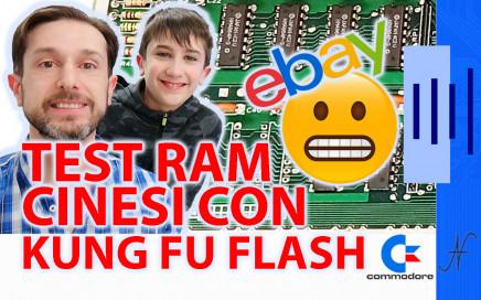 Prova RAM Commodore 64 con Kung Fu Flash 586220 4164, MT4264, HM4864P, M3764 diag
