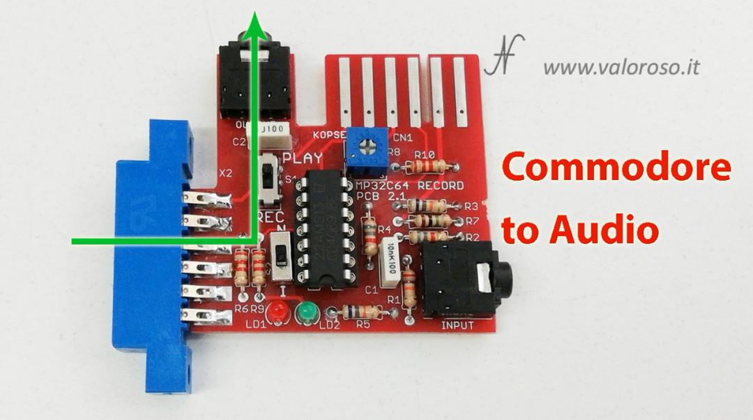 Registratore a bobine open reel collegato al Commodore 64 MP32C64 C64 computer audio file, nuova modalità registrazione programma