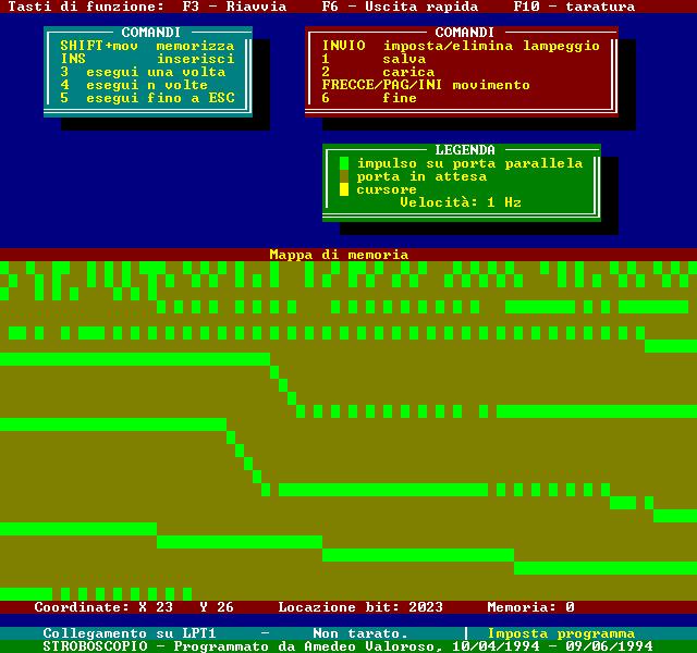 STROBO, Amedeo Valoroso, xenon strobe light schematic, stroboscopic lamp, software PC controlled, DOS