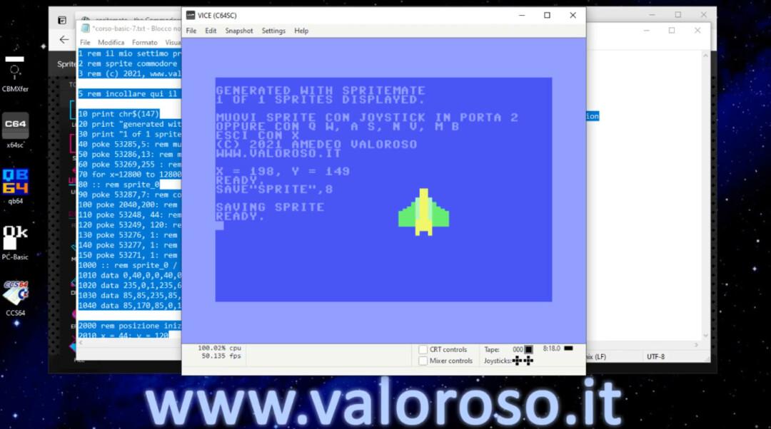 Salvare un file PRG in Basic in un disco D64 virtuale vuoto, WinVICE VICE, Create and attach an empty disk image, Commodore 64