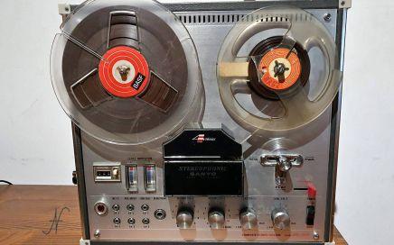 Sanyo MR-909, registratore a bobine, registratore a nastro, magnetofono, 4 tracce