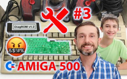Sostituzione membrana tastiera Amiga 500 e DiagROM, riparazione riparare aggiustare