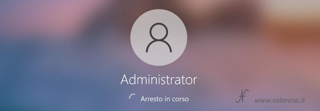 Spegnere automaticamente il PC Windows 10 ora impostata definita programmata, arresto del computer in corso disconnesso.jpg