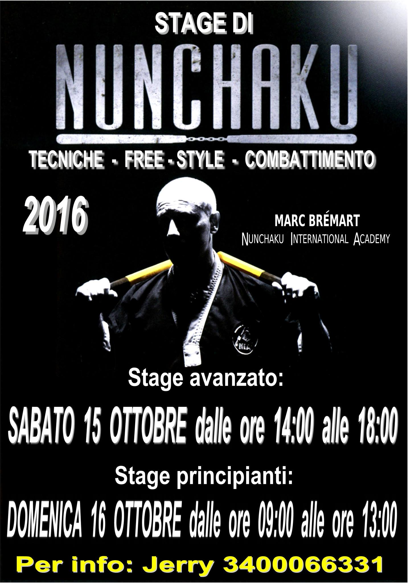 NIA Nunchaku International Academy, Stage Ottobre 2016, Marc Bremart