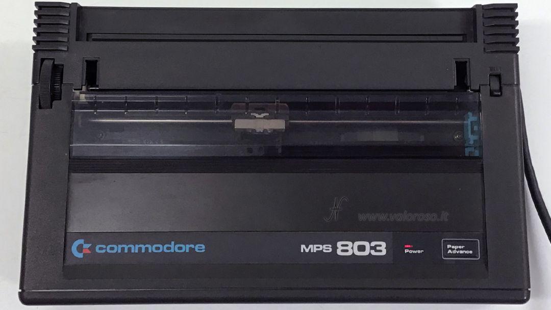 Stampante Commodore MPS 803 pulita rimontata assemblata, restaurata, riparata