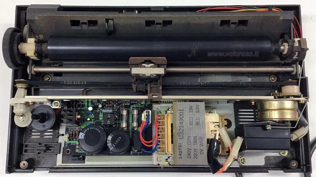 Stampante Commodore MPS 803, stampante smontata, carrello, testina sporca, cinghia, ingranaggi, motore passo passo stepper, scheda madre