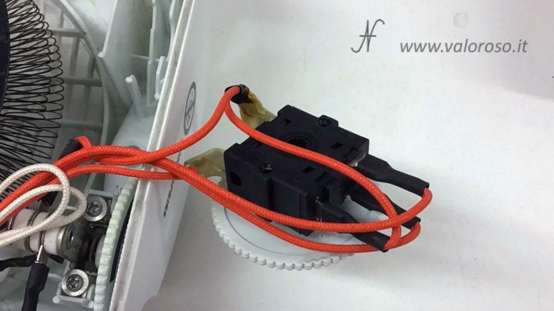 Stufetta elettrica collegare user port Commodore 64 interruttore selettore comandi accensione ventola termoventilatore