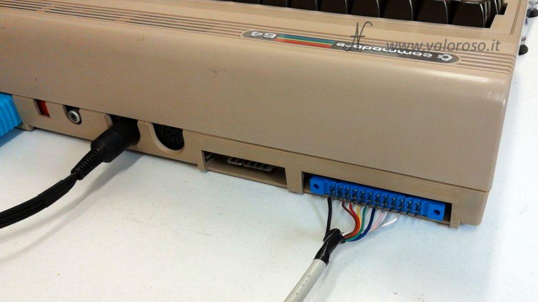 Stufetta elettrica user port del Commodore 64 porta utente, connettore tipo 3,96mm edge a 24 poli
