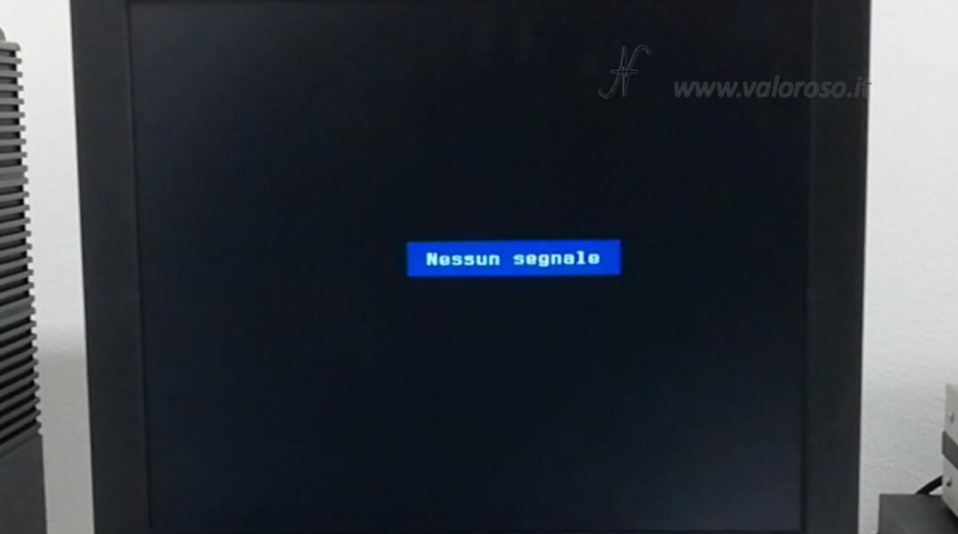 TV LCD no segnale manca segnale segnale assente manca luminanza SVideo S-Video videocomposito AV audio-video