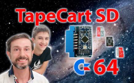 Interfaccia cartuccia TapeCart SD caricare velocemente giochi Commodore 64 TAP PRG TCRT