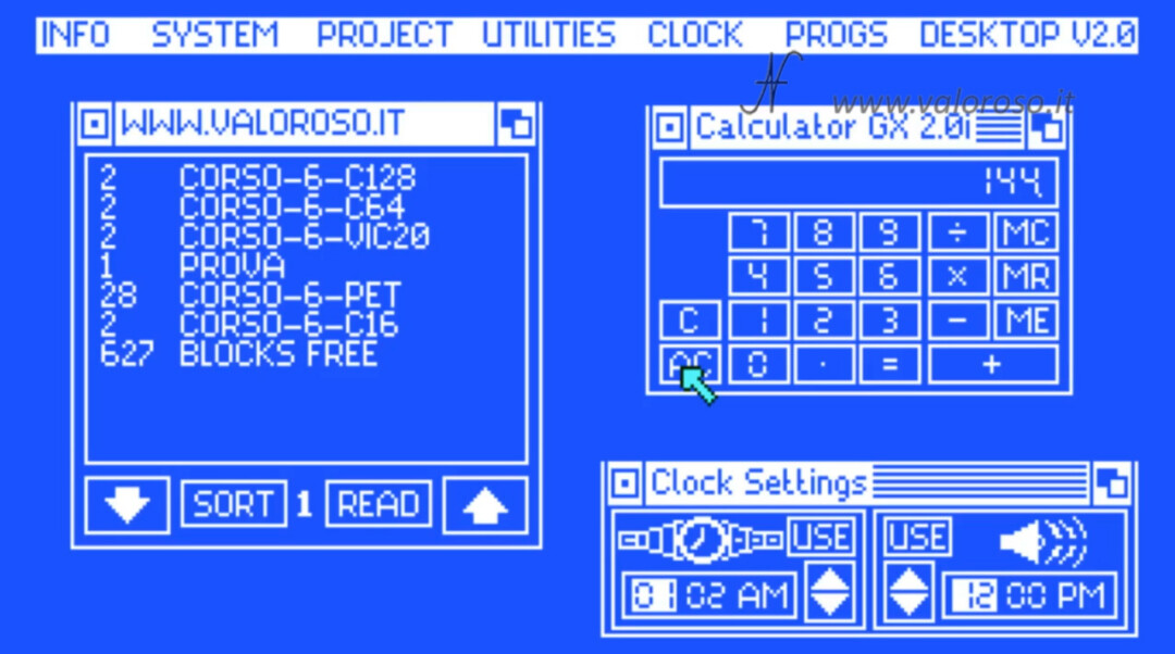 The Final Cartridge III 3 Plus cartridge graphical interface Commodore 64 menu Windows desktop programs