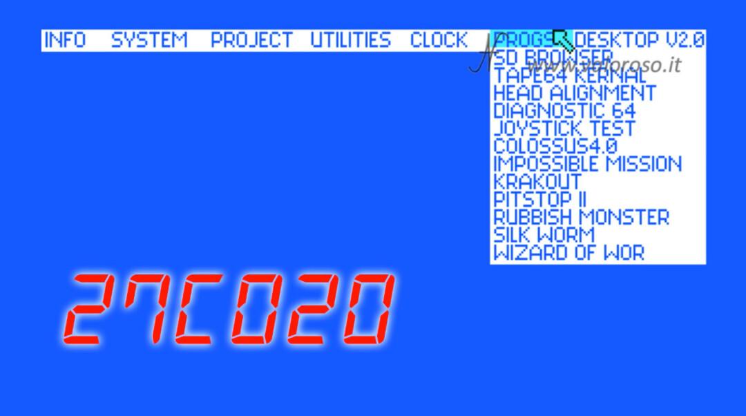 The Final Cartridge III 3 Plus cartridge graphical interface Commodore 64 desktop programs EPROM 27C020 27C2001