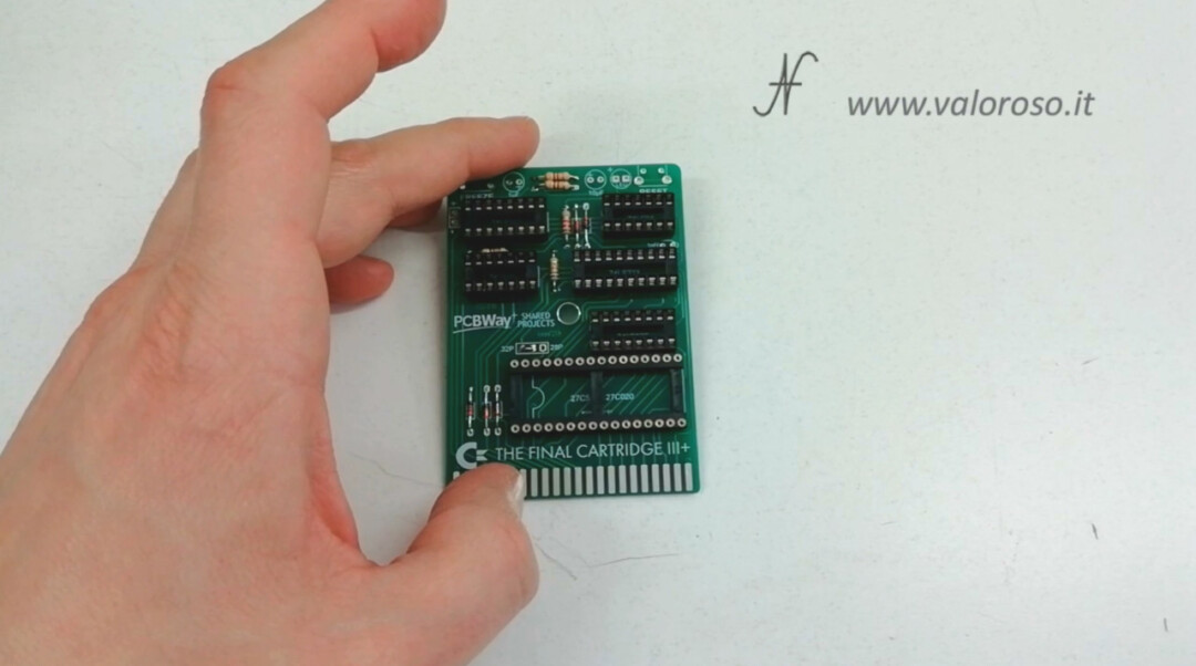 The Final Cartridge III 3 Plus interface Commodore 64 mounted socket integrated circuits IC