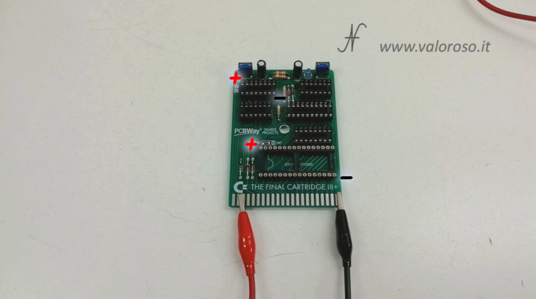 The Final Cartridge III 3 Plus interface Commodore 64 tests 5V power supply with tester