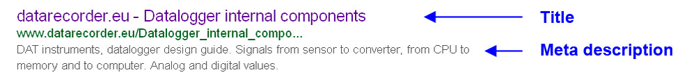Do not forget to add Title and Meta description, shown in the SERP. SEO techniques, SEO guide.