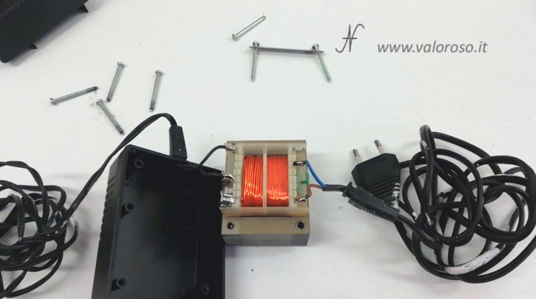 Disassembled internal floppy disk drive power supply transformer Atari 1050