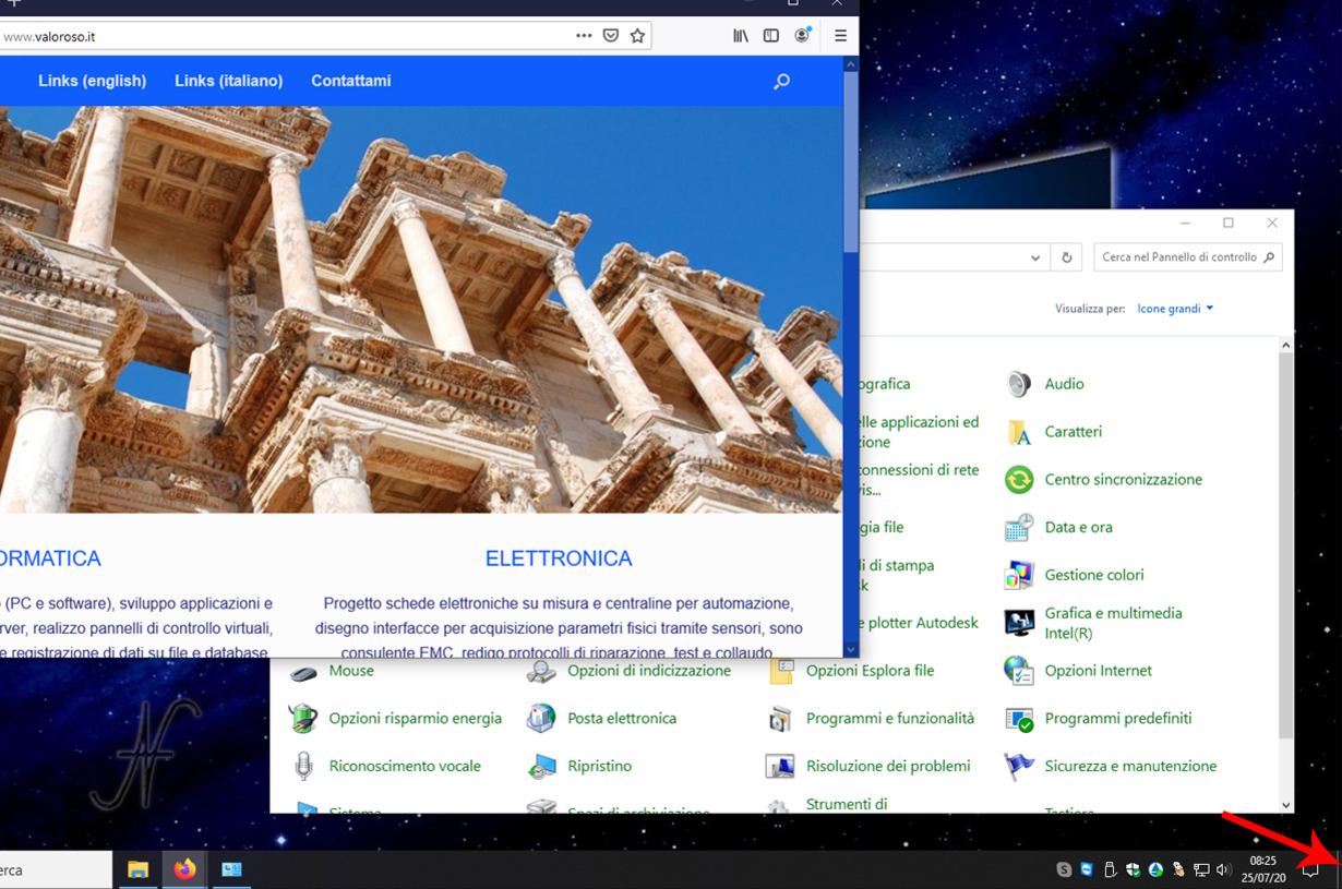 Trucchi utili per Windows 10, suggerimenti, tips and tricks, mostra desktop, Windows + M, icona nascosta