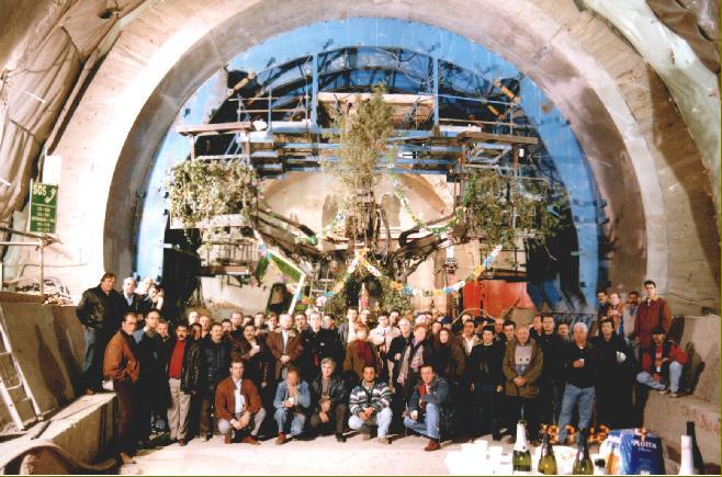 3CTR, sistema di controllo per sollevatori per gallerie, Italmec, festa in galleria, posacentine