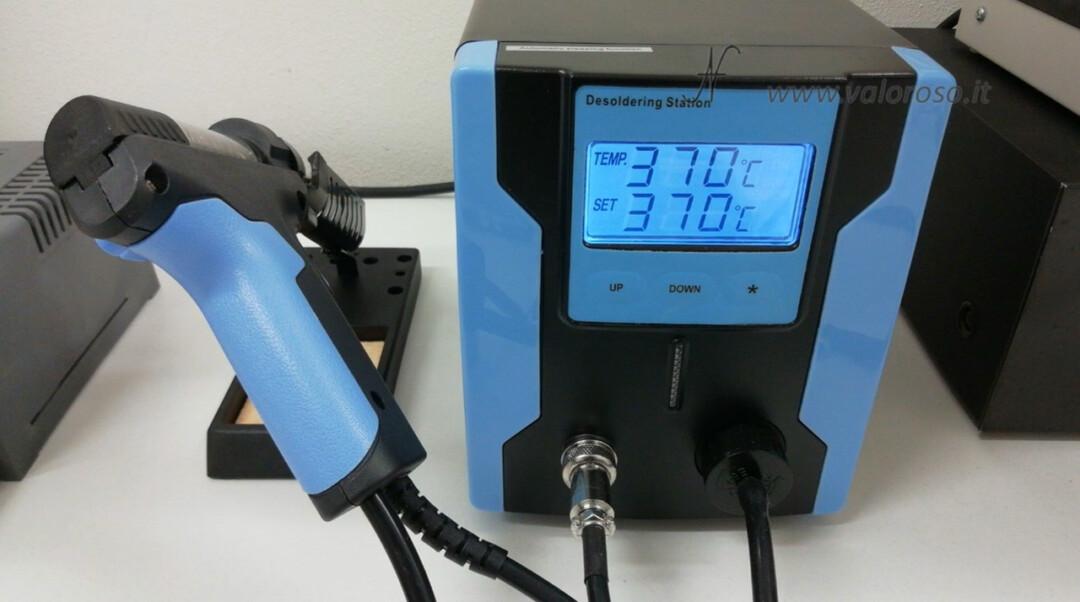 Tutorial dissaldatura ZD-8915 impostare temperatura dissaldatore stazione dissaldante pistola succhia stagno