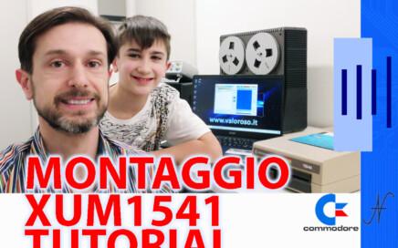 Tutorial montaggio XUM1541 Commodore 1541 USB C64, copertina, interfaccia adattatore USB IEC, OpenCBM, CBMXfer, CBM Transfer