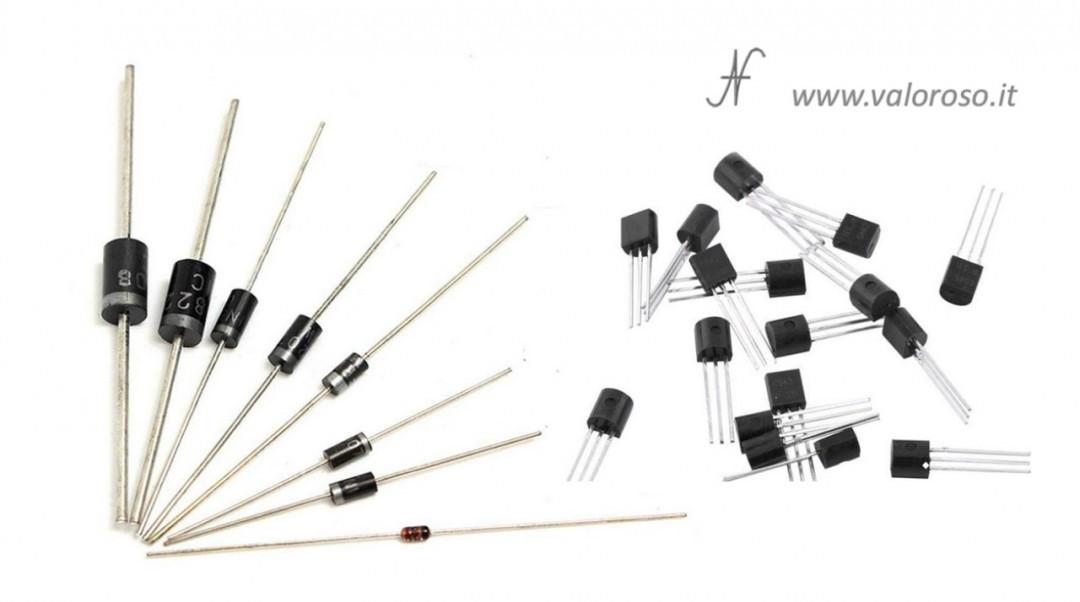 Tutorial saldatura circuito elettronico PCB saldare diodi transistor, componenti polarizzati
