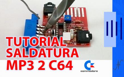 PCB soldering tutorial, MP32C64 Commodore 64, tin PCB soldering iron