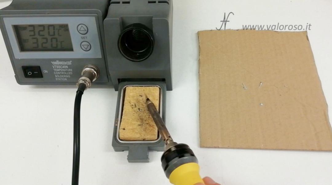 Tutorial saldatura stagno pulire saldatore circuito elettronico