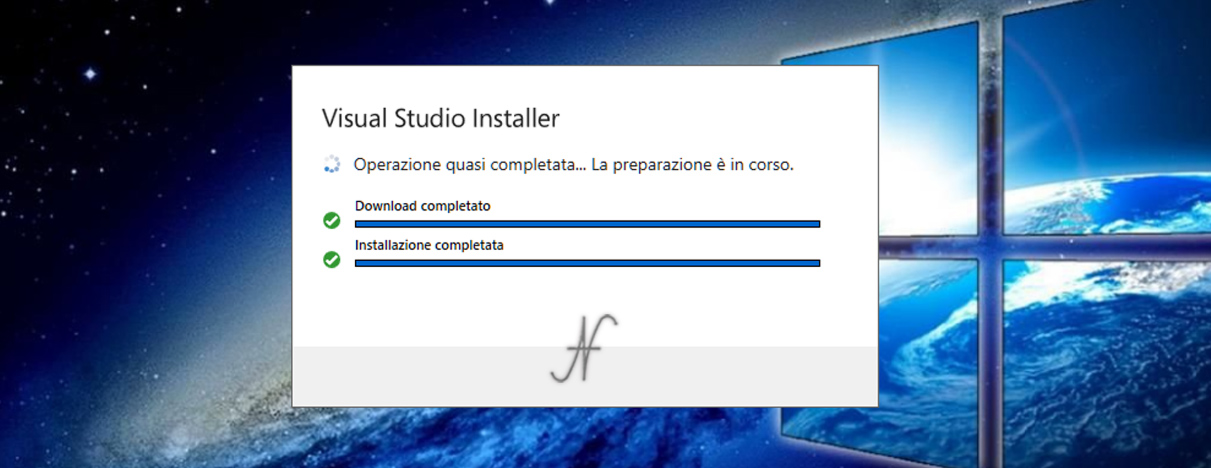 VB.NET, Visual Studio 2019, Visual Studio Installer, download installazione