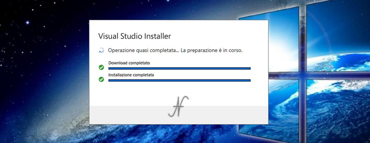 VB.NET, Visual Studio 2019, Visual Studio Installer, download installazione