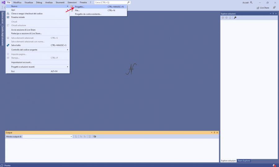 VB.NET, Visual Studio 2019, nuovo progetto Visual Basic, imparare a programmare con Visual Basic