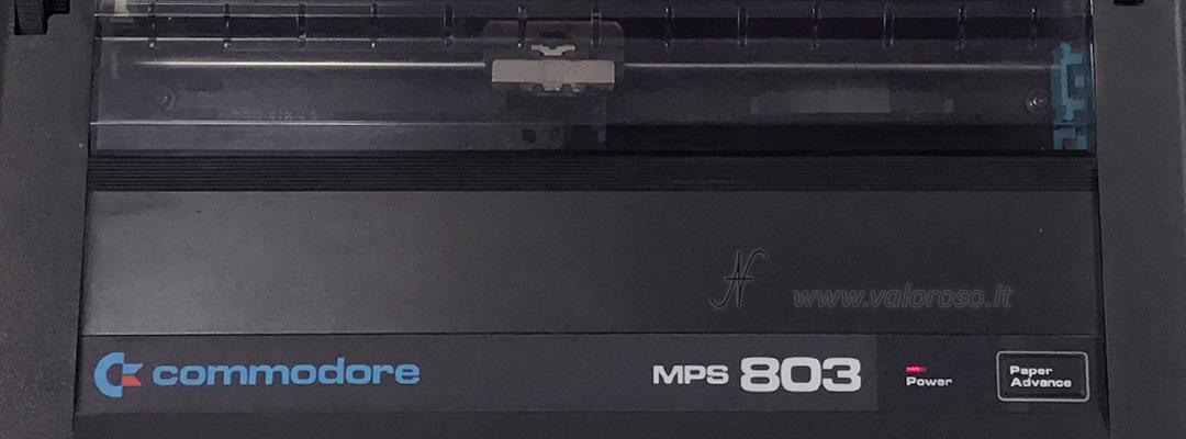 ValorosoIT Commodore MPS 803 MPS803 stampante aghi dot printer