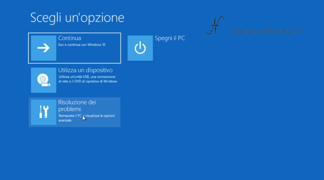 Windows 10 disabilitare controllo imposizione firma driver schermo blu, risoluzione dei problemi